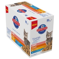 Hill's Pouch Adult Light Cat - Chicken & Fish Selection 85g x 12