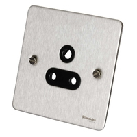Socket Ultimate 5 Amp 1 Gang Unswitched Socket Stainless Steel