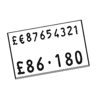 CT7 Price Label White 30k Permanent