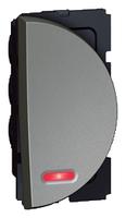 Arteor 20Amp Switch 2 Way (Neon) 1 Module Right - Magnesium  | LV0501.2574