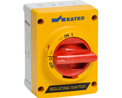 Katko isolator handles have two different features: door interlocking and defeat mechanism, to help assist with inspection and fault finding.