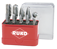 Ruko 10Pieces Set TC Rotary Burrs 6mm & 12mm