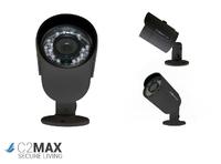 C2 MAX HDCVI 720P Fixed Bullet Two Pack (Black)