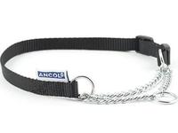 "Ancol Nylon Half Check Collar 5-9 Black 28"" x 1"
