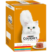 Gourmet Gold Cat Can Melting Heart Meat & Fish 85g 12-Pack x 4
