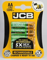 JCB RECHARGEABLE BATTERY AA 1200 MA