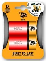 JCB Zinc Batteries Size D 2 Pack