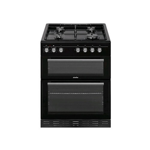 Simfer 60cm Dual Fuel Cooker - Black