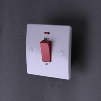 220v-250v 50-60Hz 45A double pole switch-Neon