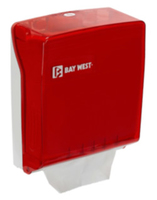 BAY WEST Z/FOLD DISPENSER RED