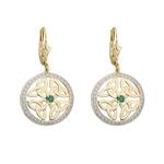 10K DIAMOND TRINITY KNOT CIRCLE EARRINGS