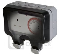 BG Outdoor Weatherproof Timer Socket