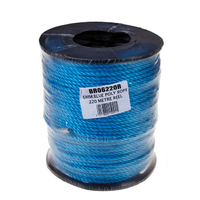 6mm Blue Poly Rope Reel 220m (C482)