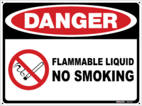 DANGER Flammable Liquid FH132