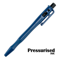 Detectable Retractable Pressurised Pen - c/w Pocket Clip and Lanyard Loop