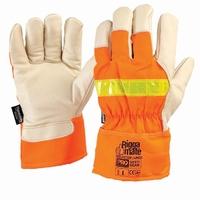 Pro Reflector Leather Glove Flu-Ora OSFA