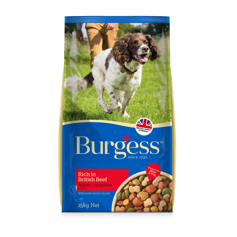 Burgess Adult Dog Rich in Beef 15kg