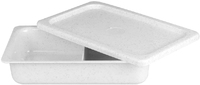 2 Compartment Rectangular Dish - Black