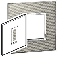 Arteor (British Standard) Plate 1 Module 1 Gang Square Woven Metal | LV0501.2706