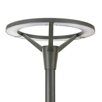 PHILIPS BPP008 LED POST TOP LUMINAIRE SYMMETRICAL 60 MM DIAMETER 27 WATT 2500 LUMEN 93 LM/W  COLOUR 740 3 YEAR WARRANTY