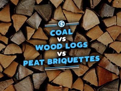 Coal vs Wood Logs vs Peat Briquettes
