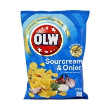 OLW CHIPS 175GR SOUR CREAM & ONION