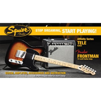 SQUIER TELECASTER PACK AFFINITY SET BSB PACK