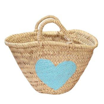 Cesta Niña Corazón azul