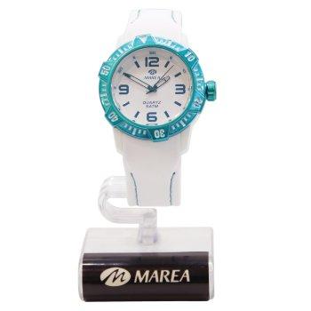 Reloj Marea blanco y turquesa