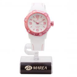 Reloj Marea blanco y rosa