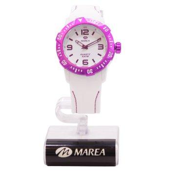 Reloj Marea blanco y lila