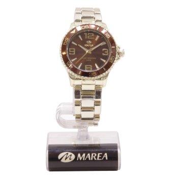 Reloj Unisex dorado y marrón