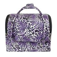 Bolso símil piel leopardo para cosméticos