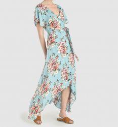Vestido de mujer de flores con lazada