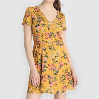 Vestido cruzado de mujer flores