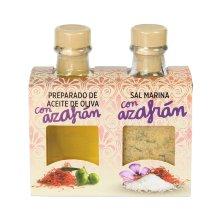 Dúo preparado de Aceite y Sal con Azafrán