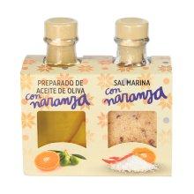Dúo preparado de Aceite y Sal con Naranja