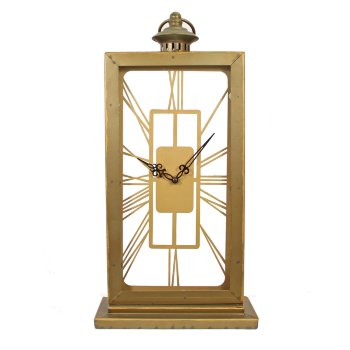 Reloj de hierro rectangular
