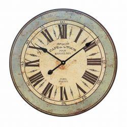 Reloj de madera efecto envejecido