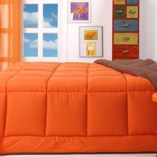Relleno nórdico bicolor 180x240 marrón/naranja