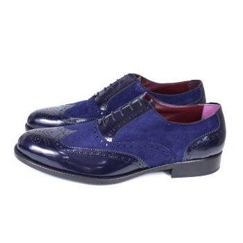 Zapato de hombre Oxford azul 117
