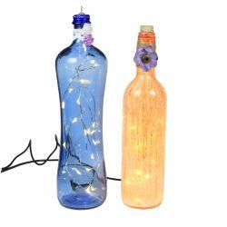 Lámpara en botella básica con leds