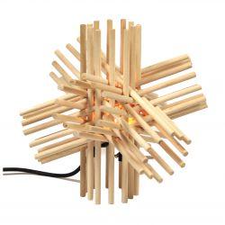 Lámpara de palitos de madera