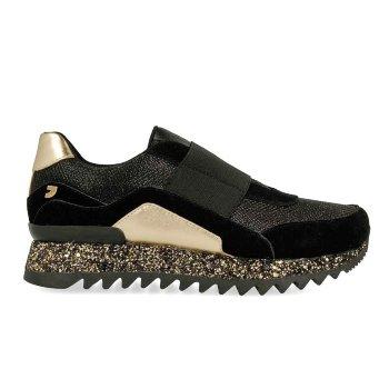 Sneaker estilo Slip On con suela glitter