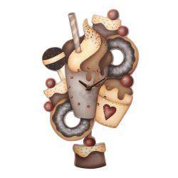 Reloj de péndulo Helado de chocolate