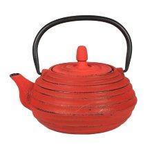 Tetera hierro fundido ceylan roja con filtro