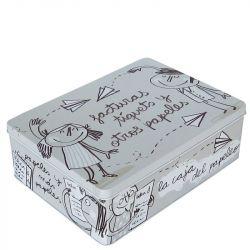 Caja metálica ''la caja del papeleo''