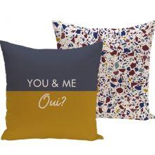 Funda cojín ''You and me, oui''