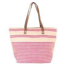 Bolsa Cesta bolso de playa de Lino rosa
