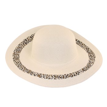 Sombrero Pamela de playa decorado Leopardo